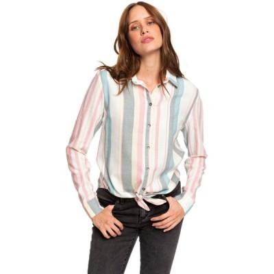 ロキシー Roxy レディース ブラウス・シャツ トップス Suburb Vibes Stripe Shirt Snow White Retro Vertical