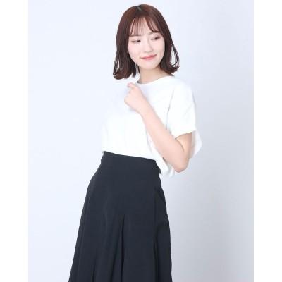 コムサイズム COMME CA ISM フレンチスリーブ  Tシャツ (ホワイト)