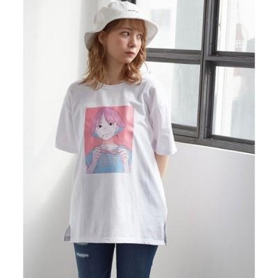 tシャツ Tシャツ イラストプリントTシャツ