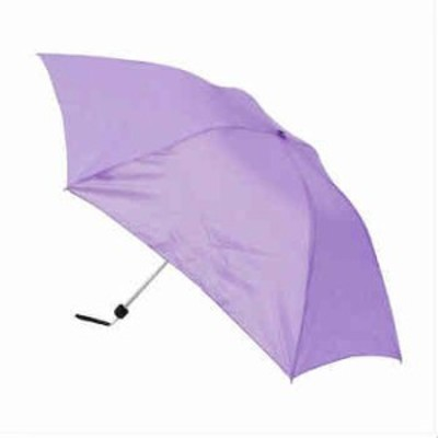 TANPOPO 52CM スリム三つ折傘  薄紫 52817