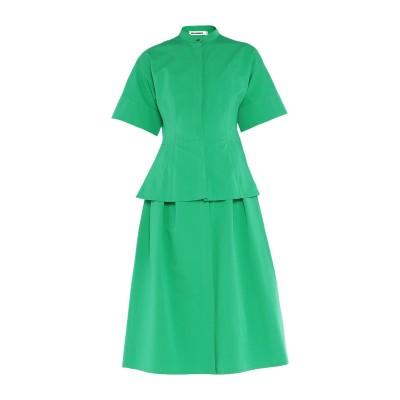 ジル サンダー JIL SANDER 7分丈ワンピース・ドレス グリーン 32 コットン 82% / シルク 18% 7分丈ワンピース・ドレス