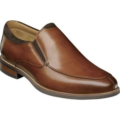 フローシャイム スリッポン・ローファー シューズ メンズ Uptown Moc Toe Slip On (Men's) Cognac Leather