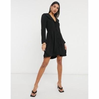 ヴィラ Vila レディース ワンピース ワンピース・ドレス Button Through Dress With Embroidered Collar In Black ブラック
