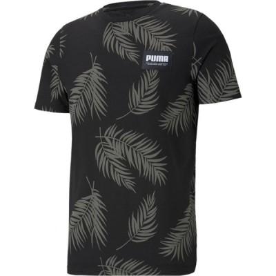 プーマ PUMA メンズ Tシャツ トップス Summer Court All Over Print T-Shirt Puma Black