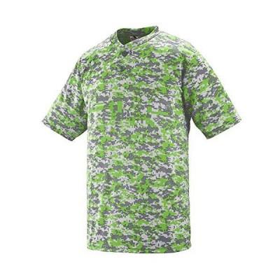 Augusta Sportswear Men's DIGI CAMO Wicking Two-Button Jersey, Lime Digi, 4X