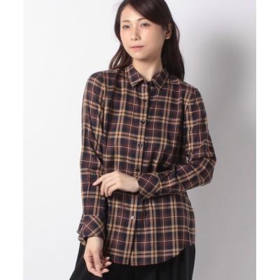 【アバン】 チェックシャツブラウス レディース ブラウン 13 AVANT