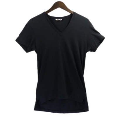 【10月12日値下】AURALEE Vネック シームレス Tシャツ ブラック サイズ:1 (南船場店)