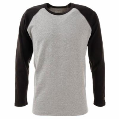クリフメイヤー(KRIFF MAYER)Tシャツ メンズ 長袖 スーパーヘビーリップル 1947202-1404:GRAY/B…