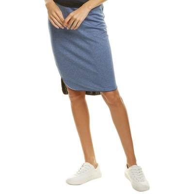 スリードッツ スカート ボトムス レディース Three Dots Special Reversible Pencil Skirt indigo multicolor