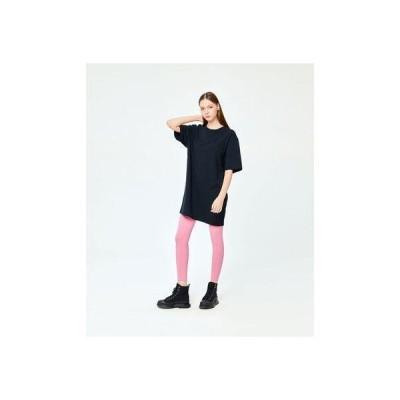 パイピング ホット フューチャー PIPING HOT FUTURE S/S OVERSIZE T-SHIRT DRESS (BLACK)