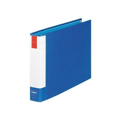 ライオン事務器 パイプ式ファイル 両開き B4E No.730RK ブルー