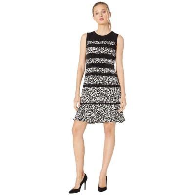 マイケル コース MICHAEL Michael Kors レディース ワンピース ワンピース・ドレス Flat Cat Paneled Dress Black/Bone
