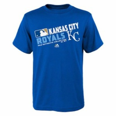 Majestic マジェスティック スポーツ用品  Majestic Kansas City Royals Youth Royal Authentic Collection Team Choice T