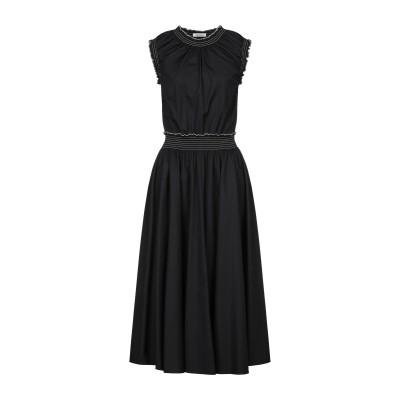NINA RICCI 7分丈ワンピース・ドレス ブラック 40 コットン 100% 7分丈ワンピース・ドレス