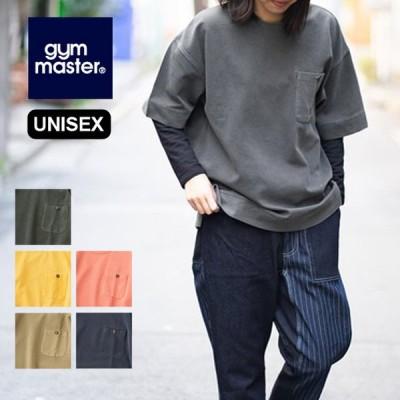 gym master ジムマスター ピグメントリップルポケット付きビックTee オーバーサイズ 半袖 Tシャツ