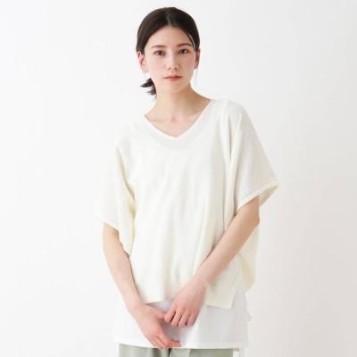 シューラルー SHOO-LA-RUE 【2点セット】抜き衿ドルマンニットセット (アイボリー)