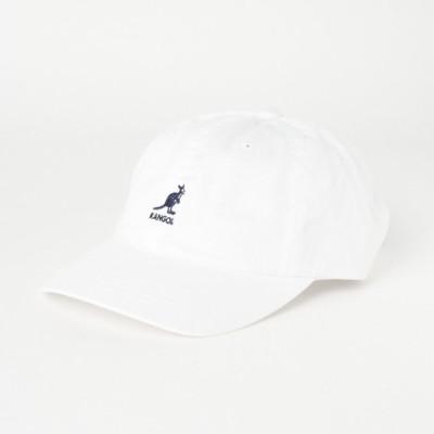 カンゴール キャップ KG Washed Baseball (100169220 06) 帽子 : ホワイト×ネイビー KANGOL