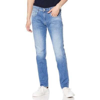 [リプレイ] ANBASS 9.5oz ディープインディゴコンフォート スリムデニム Trousers メンズ ミディアムブルー EU 29 (日本サ