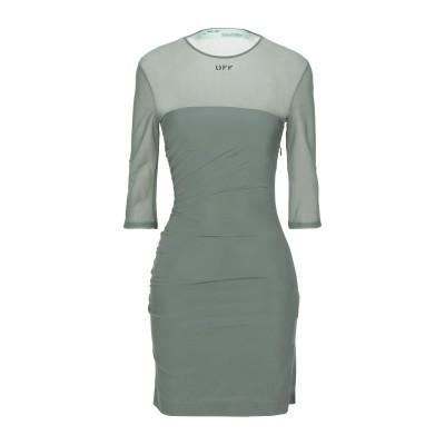 OFF-WHITE™ ミニワンピース&ドレス ミリタリーグリーン 44 ナイロン 88% / ポリウレタン 12% / レーヨン ミニワンピース&ド