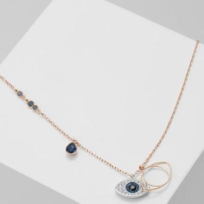 スワロフスキ レディース アクセサリー DUO PENDANT EVIL EYE - Necklace - silver-coloured