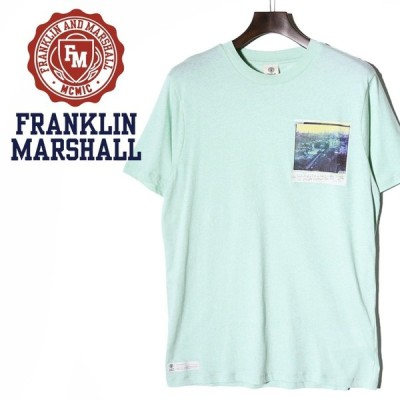 フランクリン&マーシャル FRANKLIN & MARSHALL 半袖Tシャツ メンズ ワンポイントフォトプリント ラウンドネック TSHIRT JERSEY ROUND NECK SHORT
