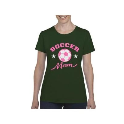 レディース 衣類 グラフィックティー Womens Soccer Mom Short Sleeve T-Shirt