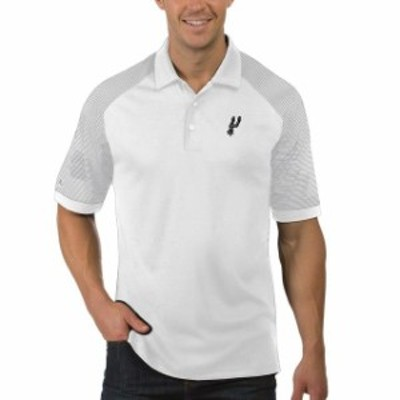 Antigua アンティグア スポーツ用品  Antigua San Antonio Spurs White Engage Polo