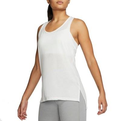 ナイキ シャツ トップス レディース Nike Women's Yoga Layer Tank Top SummitWhite