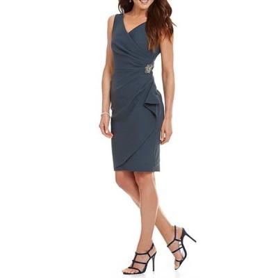 アレックスイブニングス レディース ワンピース トップス Petite Ruched Sheath Dress