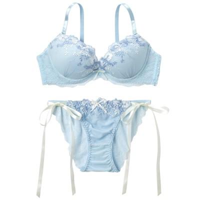 フラワリーブーケ刺しゅう ブラジャー・ショーツセット(F70/M) (ブラジャー&ショーツセット)Bras & Panties