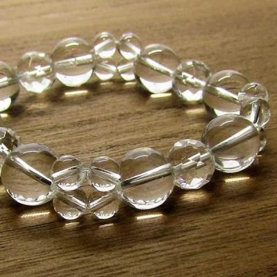 ヒマラヤ水晶 ブレスレット 天然石 パワーストーン 水晶 ブレス