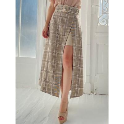 リゼクシー RESEXXY 合皮パイピングレイヤードスカート (ミックス)