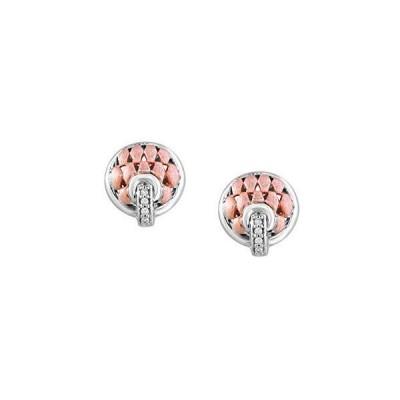 EFFY 925 STERLING SILVER DIAMOND EARRINGS