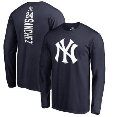 ファナティクス ブランデッド メンズ Tシャツ トップス Gary Sanchez New York Yankees Backer Long Sleeve T-Shirt