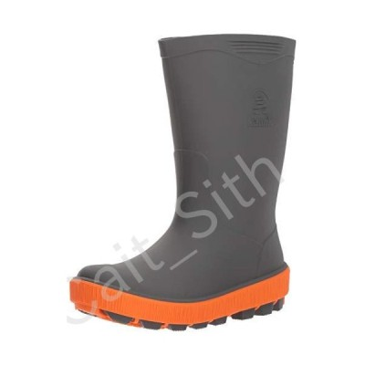 Kamik Youth Riptide Rain Boots Charcoal 13[並行輸入品]