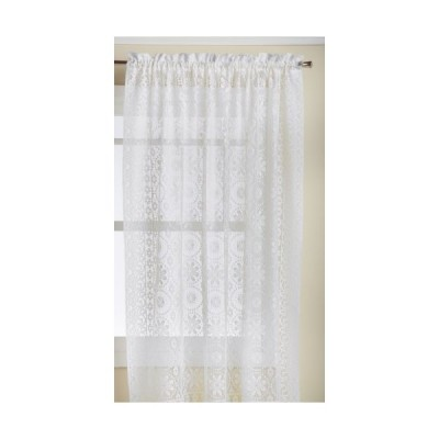Lorraine Home Fashions Hopewell Lace Window Curtain Panel, 58-Inch by 63-In
