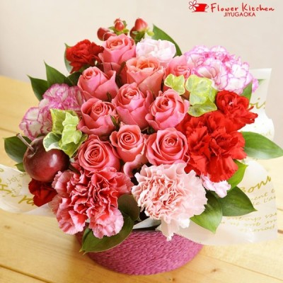 花 ギフト ローズガーデンアレンジメント 誕生日 記念日 お祝い花 即日発送 あすつく