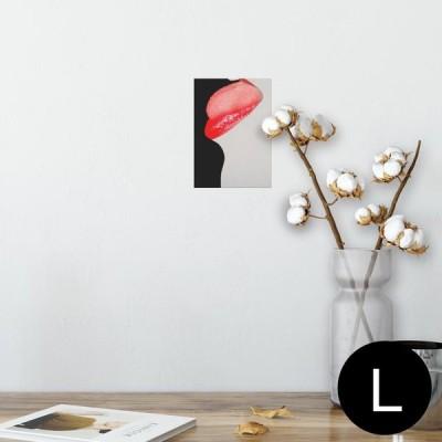 ポスター ウォールステッカー シール式 89×127mm L版 写真 壁 インテリア おしゃれ wall sticker poster リップ 女の人 000434