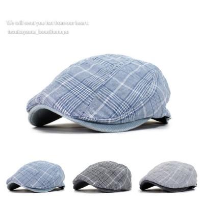ハンチング メンズ 帽子 ゴルフ グレンチェック サマー トレンド 人気 おしゃれ 父の日 贈り物 プレゼント 春夏 ウォーキング ハイキング カジュアル