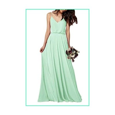 EverLove Women's Long Spaghetti Straps Prom Dress Chiffon Bridesmaid Dresses Mint US10並行輸入品