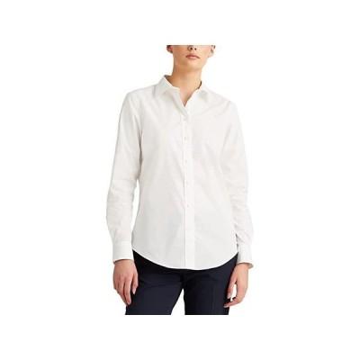 LAUREN Ralph Lauren Easy Care Stretch Cotton Shirt レディース シャツ トップス White