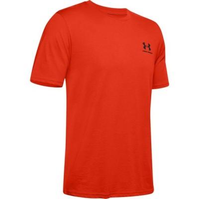アンダーアーマー Under Armour メンズ Tシャツ トップス Sportstyle Left Chest T-Shirt Ultra Orange/Black