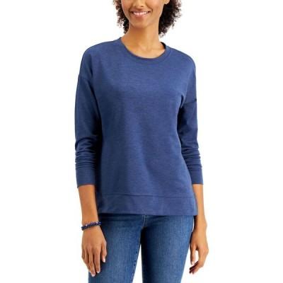 スタイル&コー Style & Co レディース スウェット・トレーナー トップス Petite Sweatshirt Washed Indigo Combo