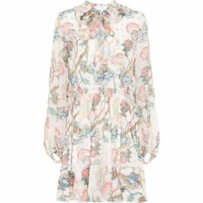クロエ Chloe レディース ワンピース ワンピース・ドレス embroidered printed silk dress Multi White