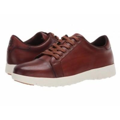 Stacy Adams ステーシーアダムス メンズ 男性用 シューズ 靴 スニーカー 運動靴 Hawkins Cap Toe Sneaker Cognac【送料無料】