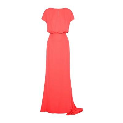 MIKAEL AGHAL ロングワンピース&ドレス コーラル 2 ポリエステル 100% ロングワンピース&ドレス