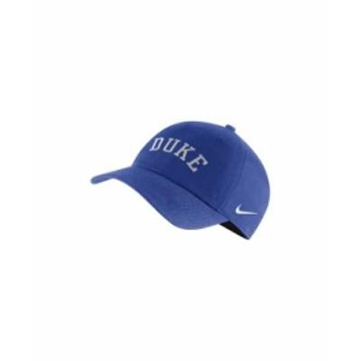 ナイキ メンズ 帽子 アクセサリー Men's Duke Blue Devils Heritage 86 Team Wordmark Cap RoyalBlue