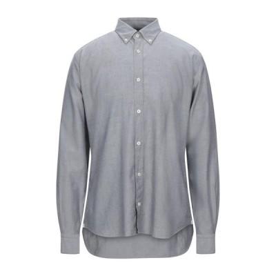 MASTRICAMICIAI 柄入りシャツ  メンズファッション  トップス  シャツ、カジュアルシャツ  長袖 グレー
