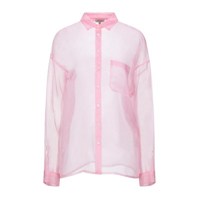 HER SHIRT シャツ ピンク L シルク 100% シャツ