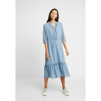 モス コペンハーゲン ワンピース レディース トップス EVALINE 3/4 DRESS - Day dress - blue